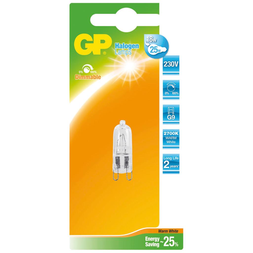 Gp GP-048121-HL Halogeenlamp Capsule Netspanning Energiebesparend G9 20 W