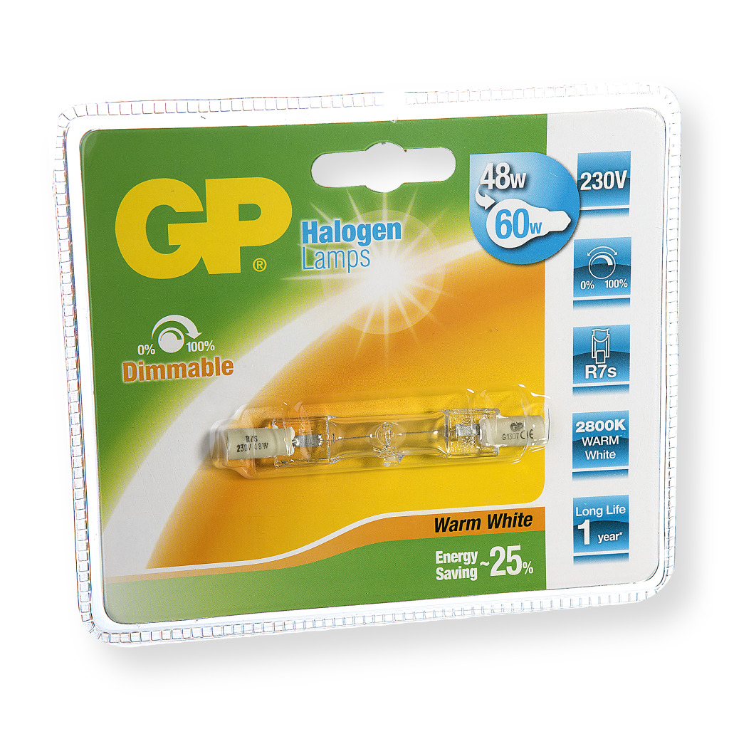Gp GP-060406-HL Halogeenlamp Recht Energiebesparend R7s 48 W