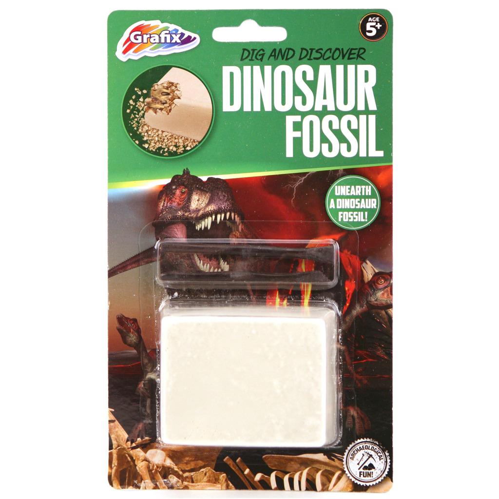 grafix dinosaurus fossiel uitbikken assorti