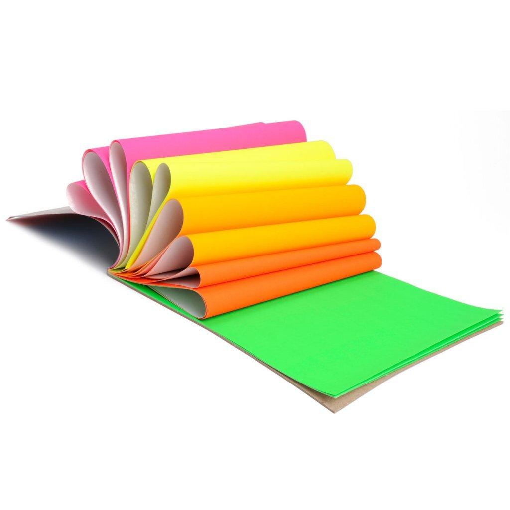 grafix a4 papierblok fluorkleuren