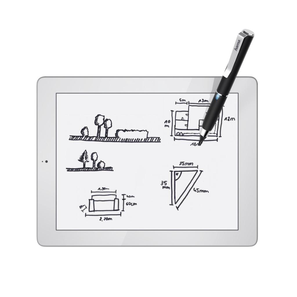 Hama Stylus Active Fineline Met Dunne Punt Van 2,5 Mm Voor Tablet-pcs