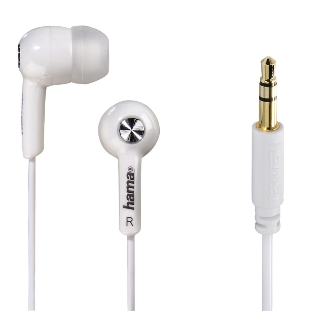Hama In-ear-stereo-oortelefoon Basic4Music Wit
