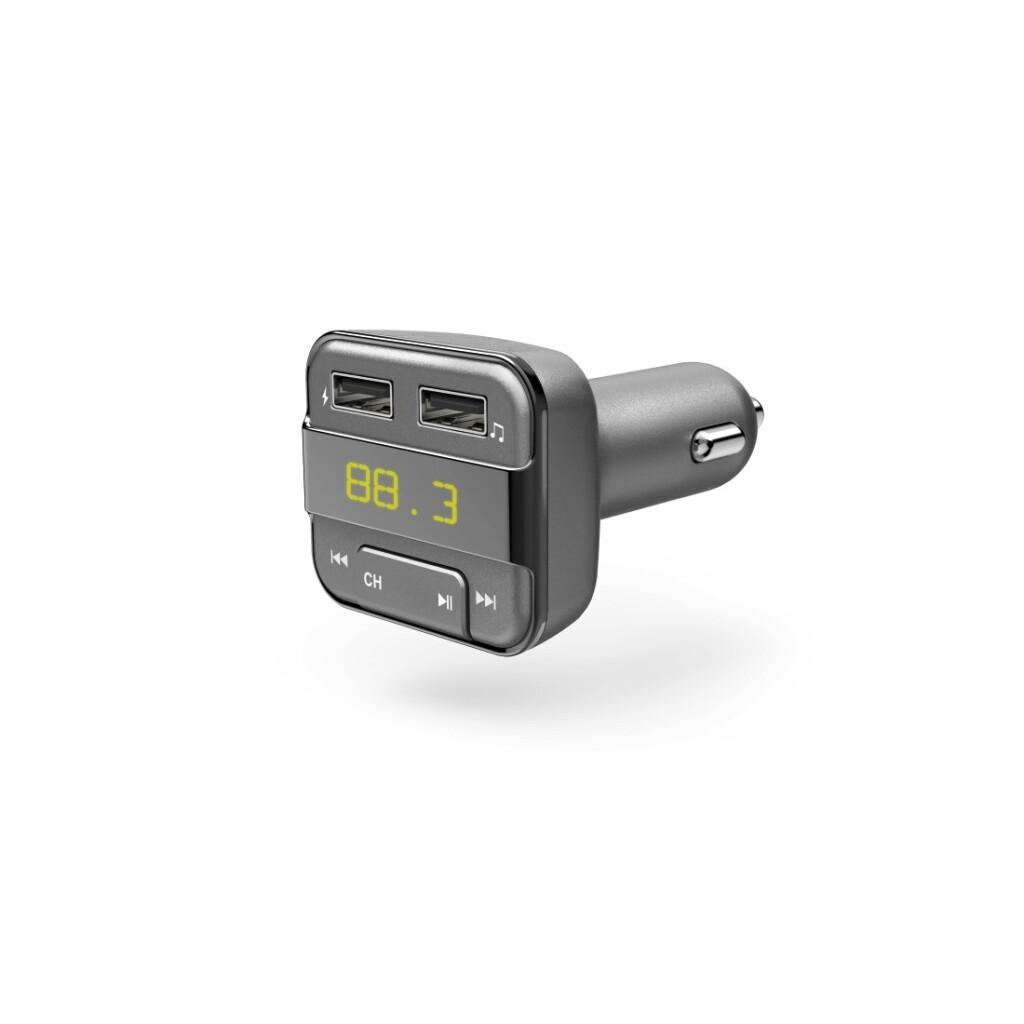 Hama Bluetooth®-FM-transmitter Met USB-oplaadfunctie Grijs