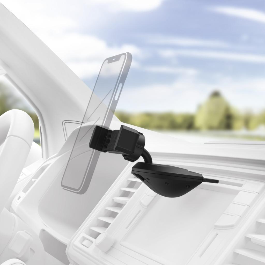 Hama Uni-smartphonehouder Voor Apparaten Met Een Breedte Van 6 - 8 Cm Voor De Cd-sleuf Van De Autoradio