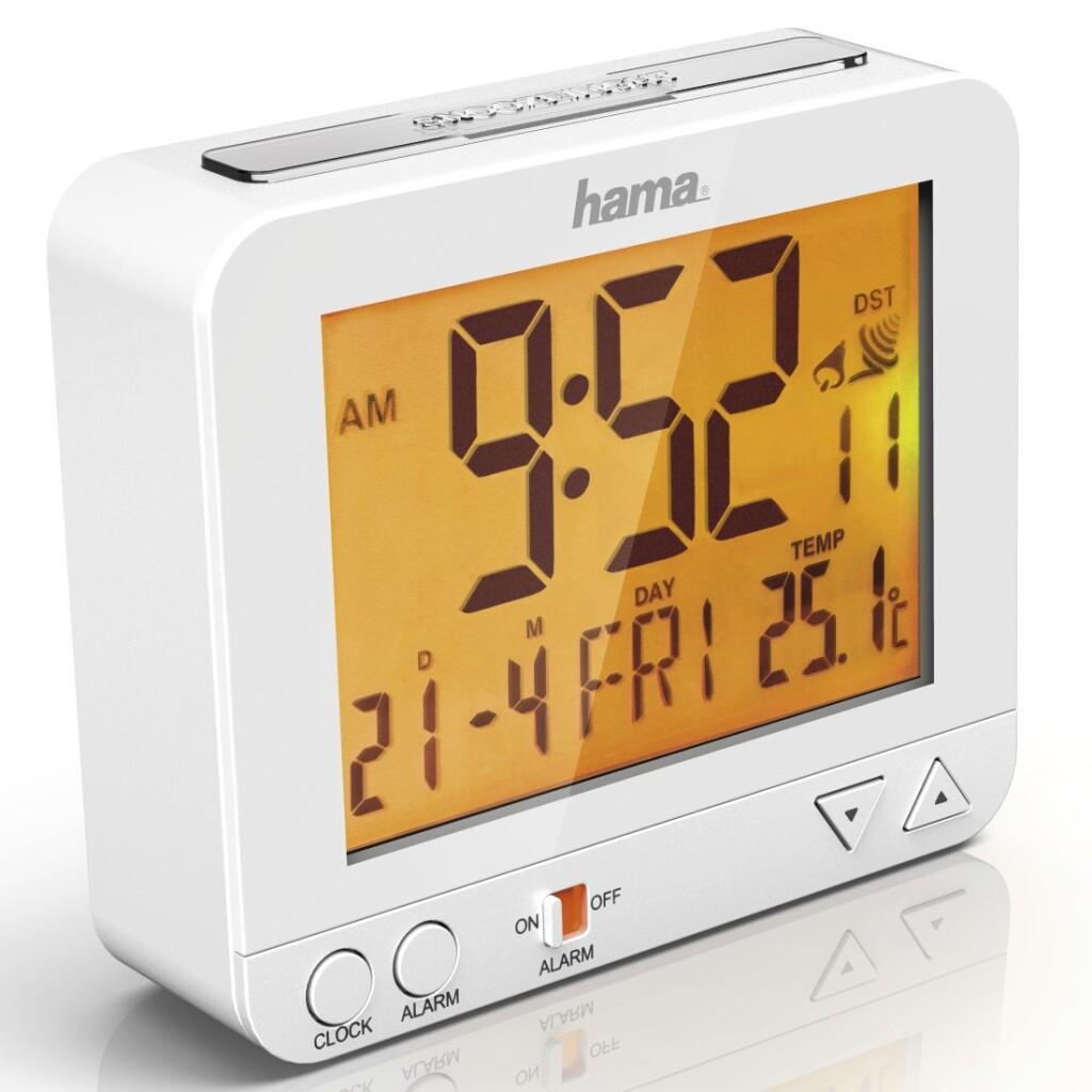 Hama Radiogestuurde Wekker RC 550 Met Nachtlicht-functie Wit