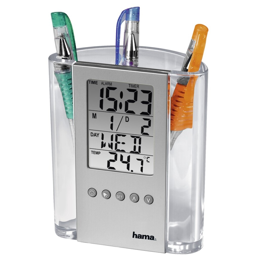 Hama Lcd-thermometer En Penhouder