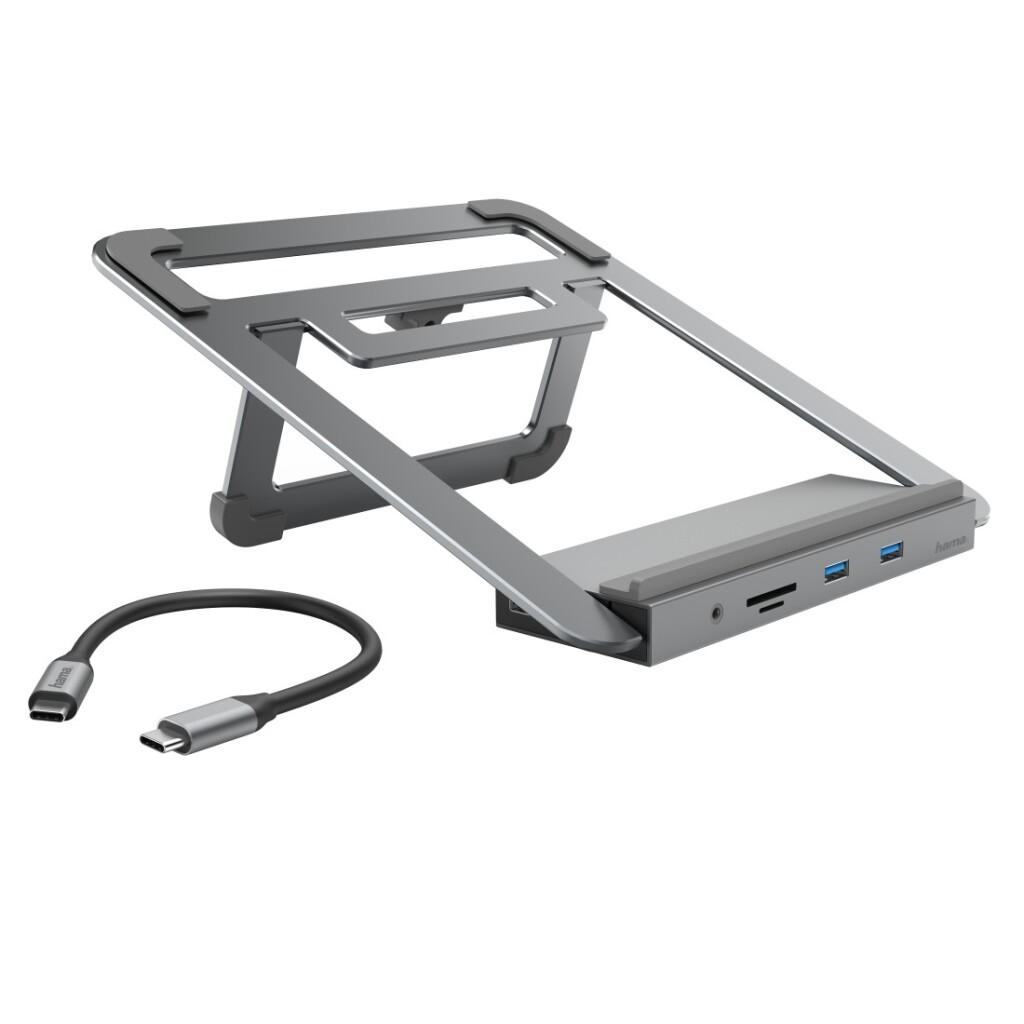 Hama 12in1-USB-C-dockingstation Met Notebook-standaard