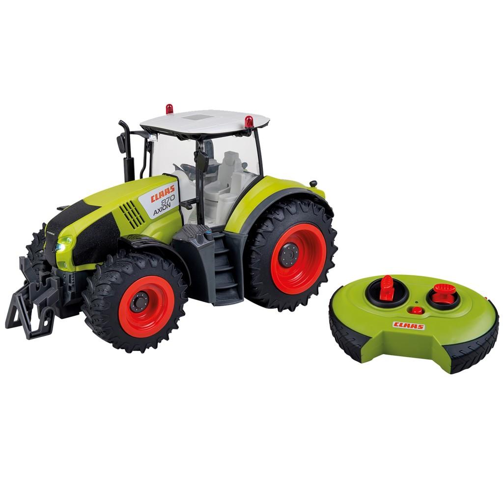 happy people rc claas axion 870 tractor met licht 1:16