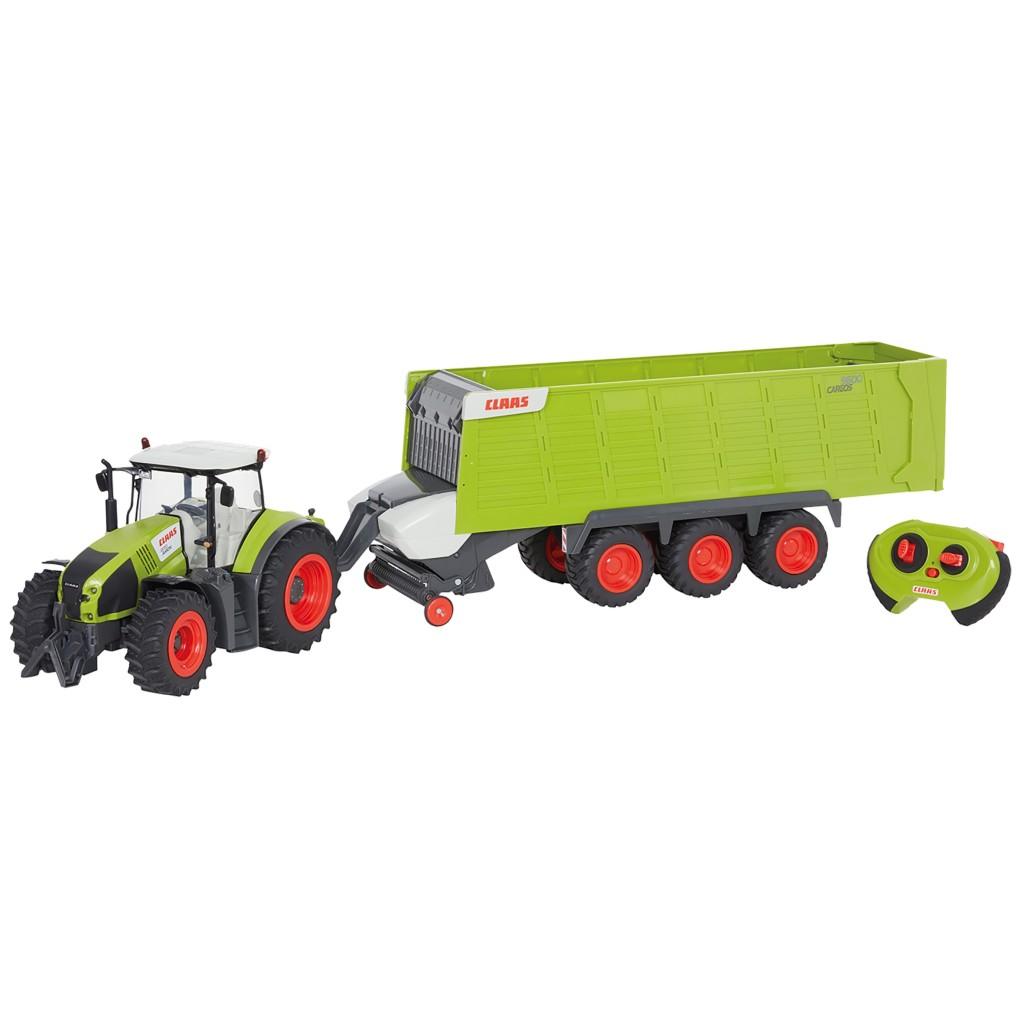 happy people rc claas axion 870 tractor + aanhanger met licht 1:16