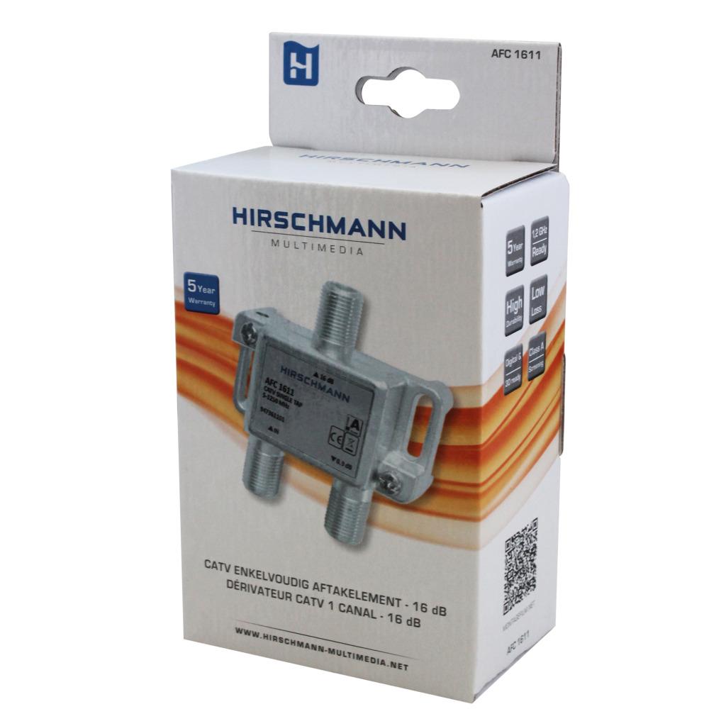 hirschmann 695020483 catv splitter 1.0 db / 5-1218 mhz - 1 uitgang