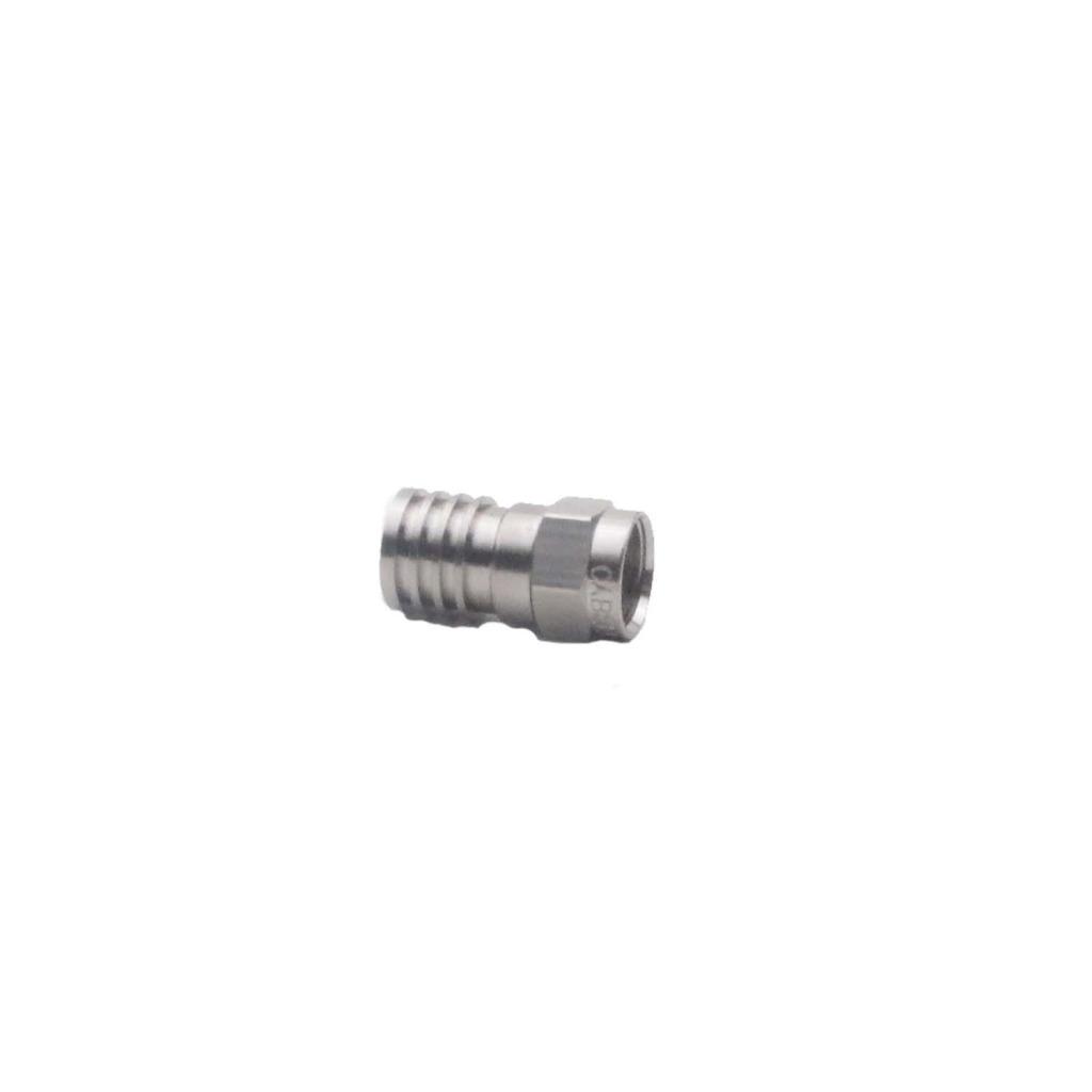 hirschmann 695001997 f-connector brass metaal