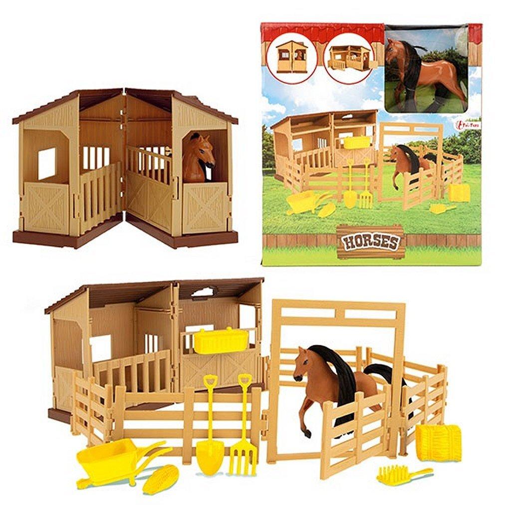 horses paardenstal met paard + accessoires