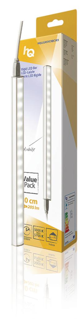 HQ HQLLEASYCRBCW3 Lineaire Lichtstrip Led Niet-flexibel Eenvoudig Te Koppelen 30 Cm Koel Wit