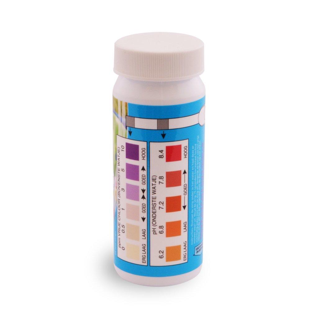 Interline Zwembad Teststrips 2in1 voor Chloor en pH-waarden 25 stuks