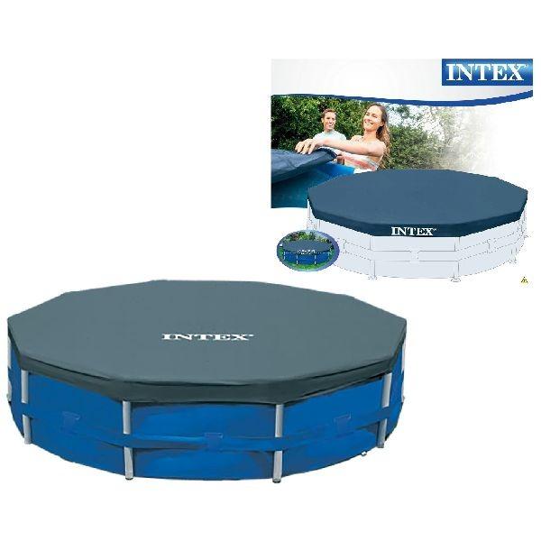 Intex 28031 Afdekzeil voor Frame Zwembad 366cm Blauw