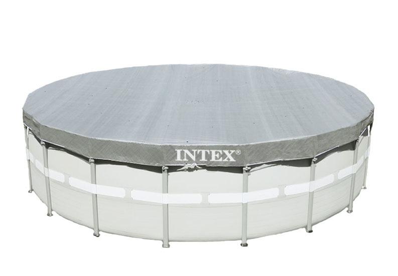 Intex 28040 Luxe (verzwaard) afdekzeil voor frame pools 488 cm