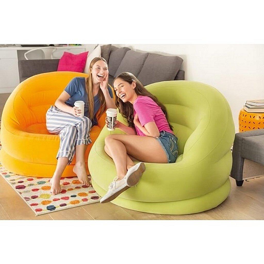 Intex 68577NP Opblaasbare Bella Stoel Oranje 112x104x79 cm