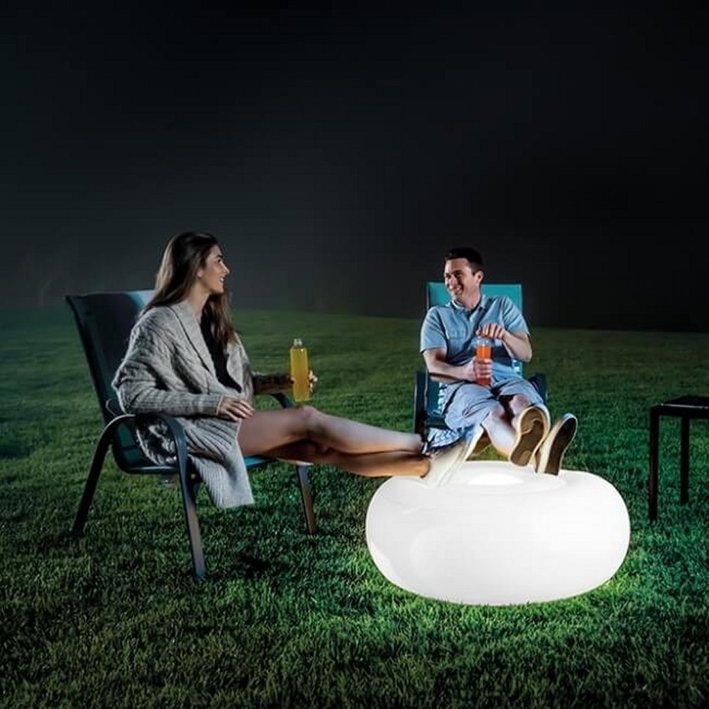 Intex 68697 Opblaasbare LED-Verlichting Poef 33x86 cm