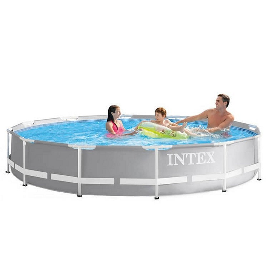 Intex 26710NP Prism Frame Zwembad 366x76 cm Grijs