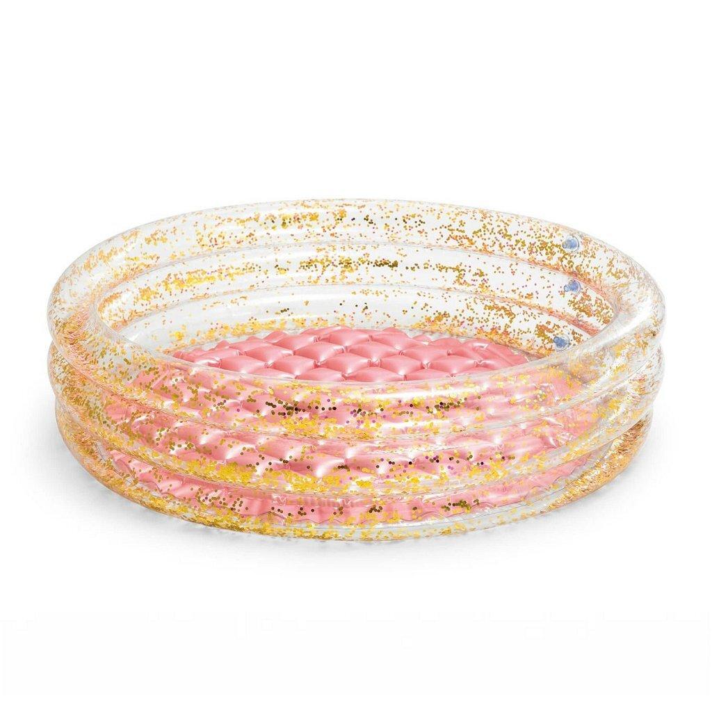 Intex 57103NP Mini Glitter Opblaasbaar Zwembad 86x25 cm Roze/Goud