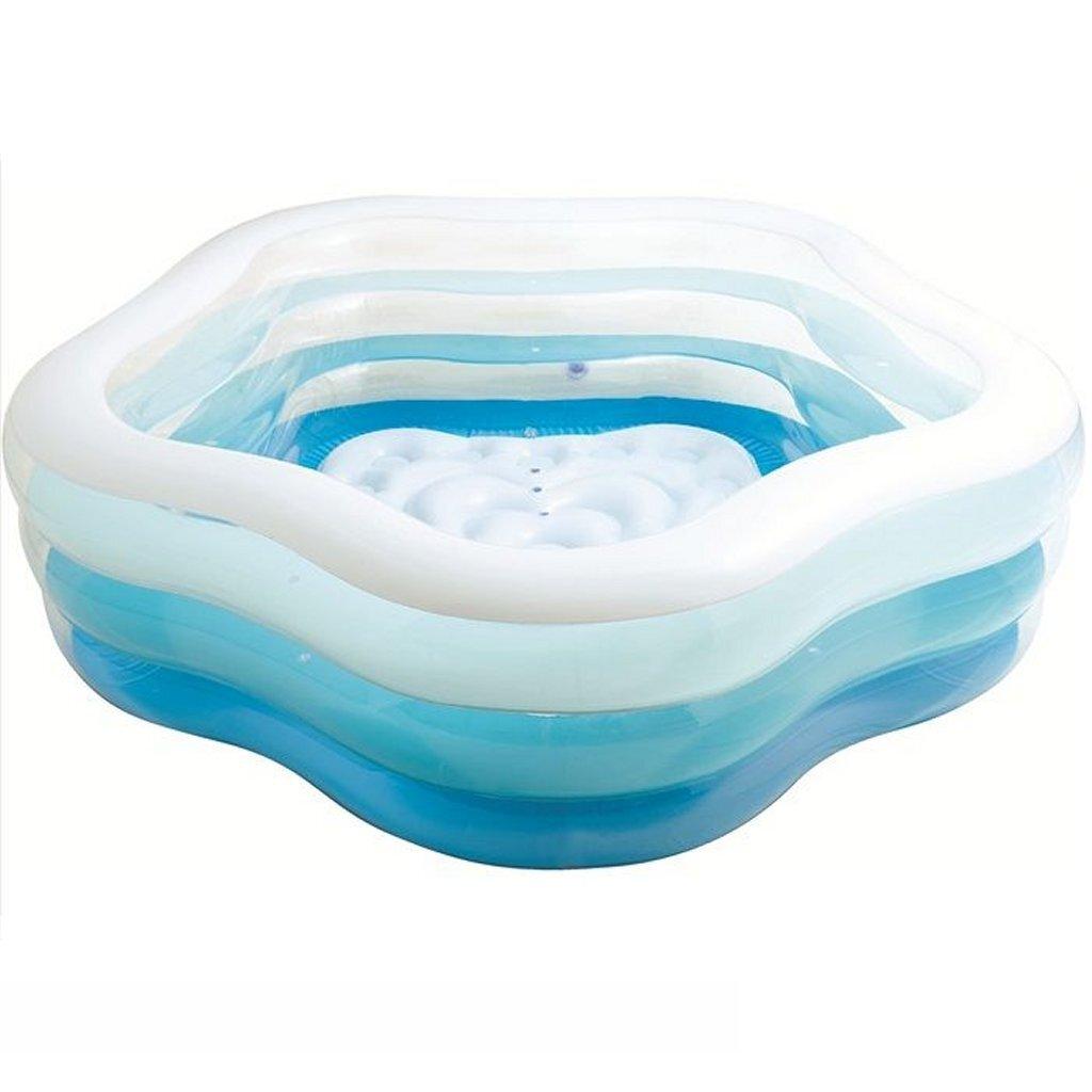 Intex 56495NP Opblaasbaar Zwembad 185x180x53 cm Blauw/Wit