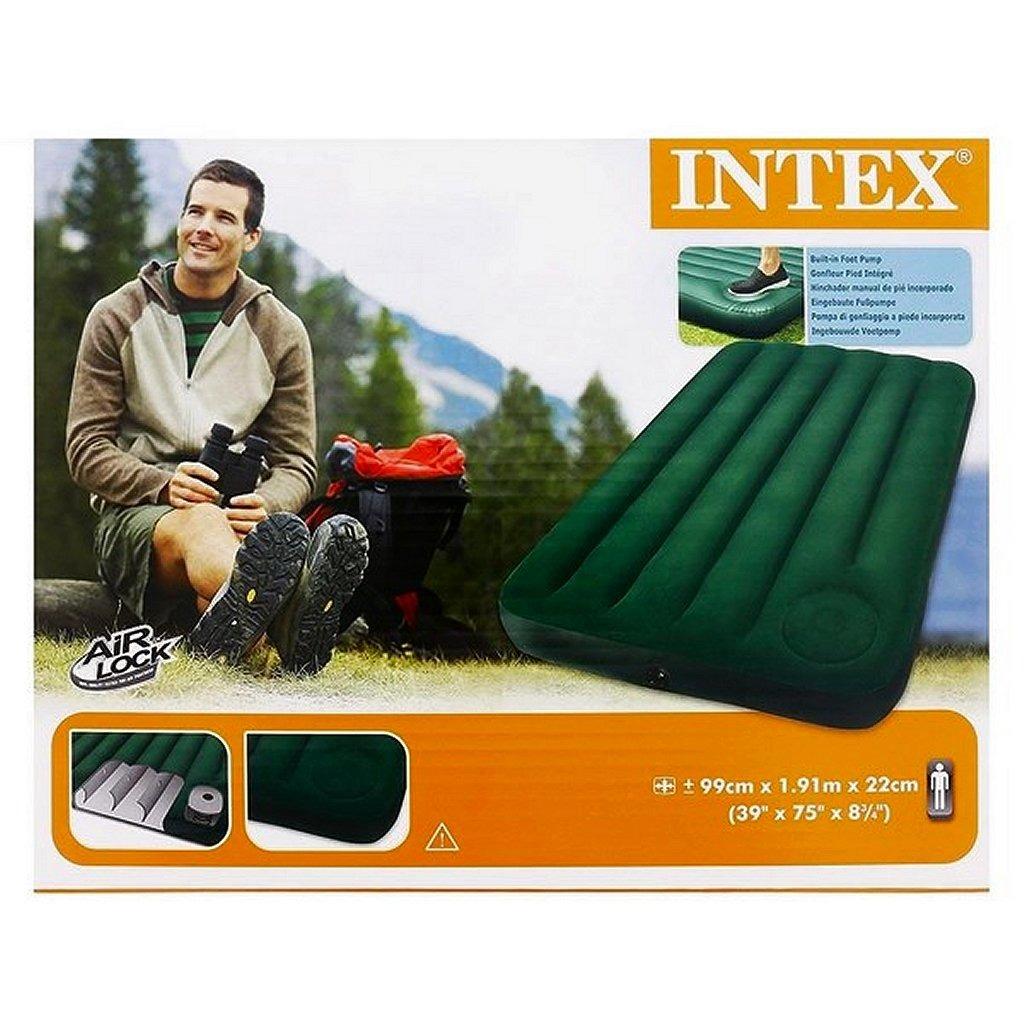 Intex 66927 Luchtbed + Ingebouwde Voetpomp 191x99x22cm