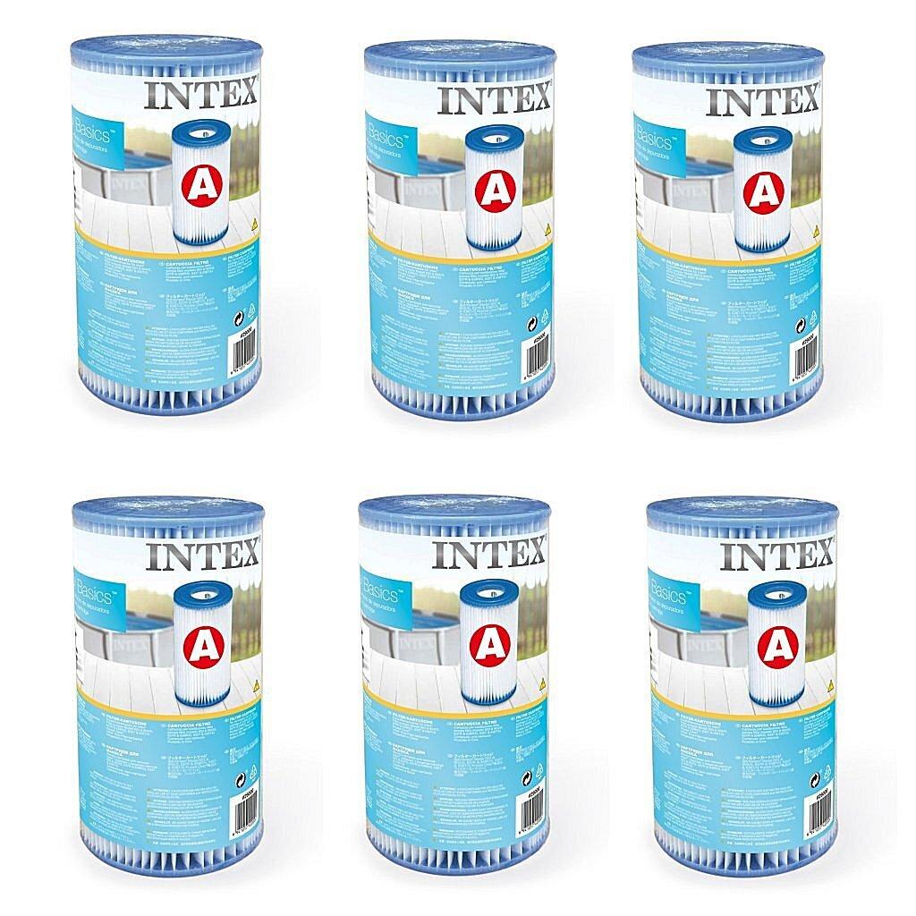 Intex 29000 Filter Cartridge Type A 6 Stuks voor Zwembad 244/305/366 cm