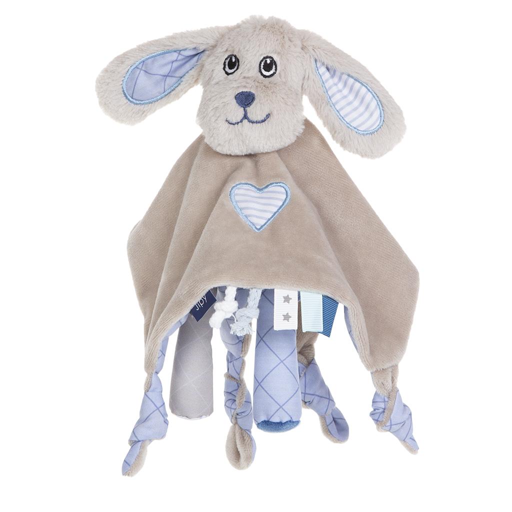 jipy hond knuffeldoekje blauw