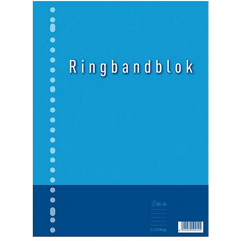 Kangaro K-5544-RB-NTRL Ringbandblok A4 Lijn 23R 60grs 80 Blad
