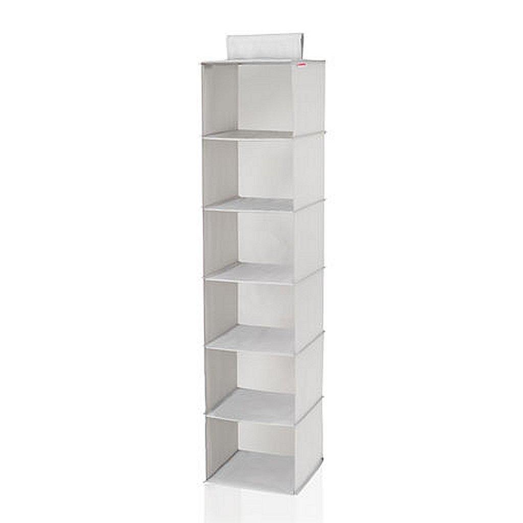 Leifheit 80004 Hang Organizer met 6 Planken 30x30x125 cm Grijs