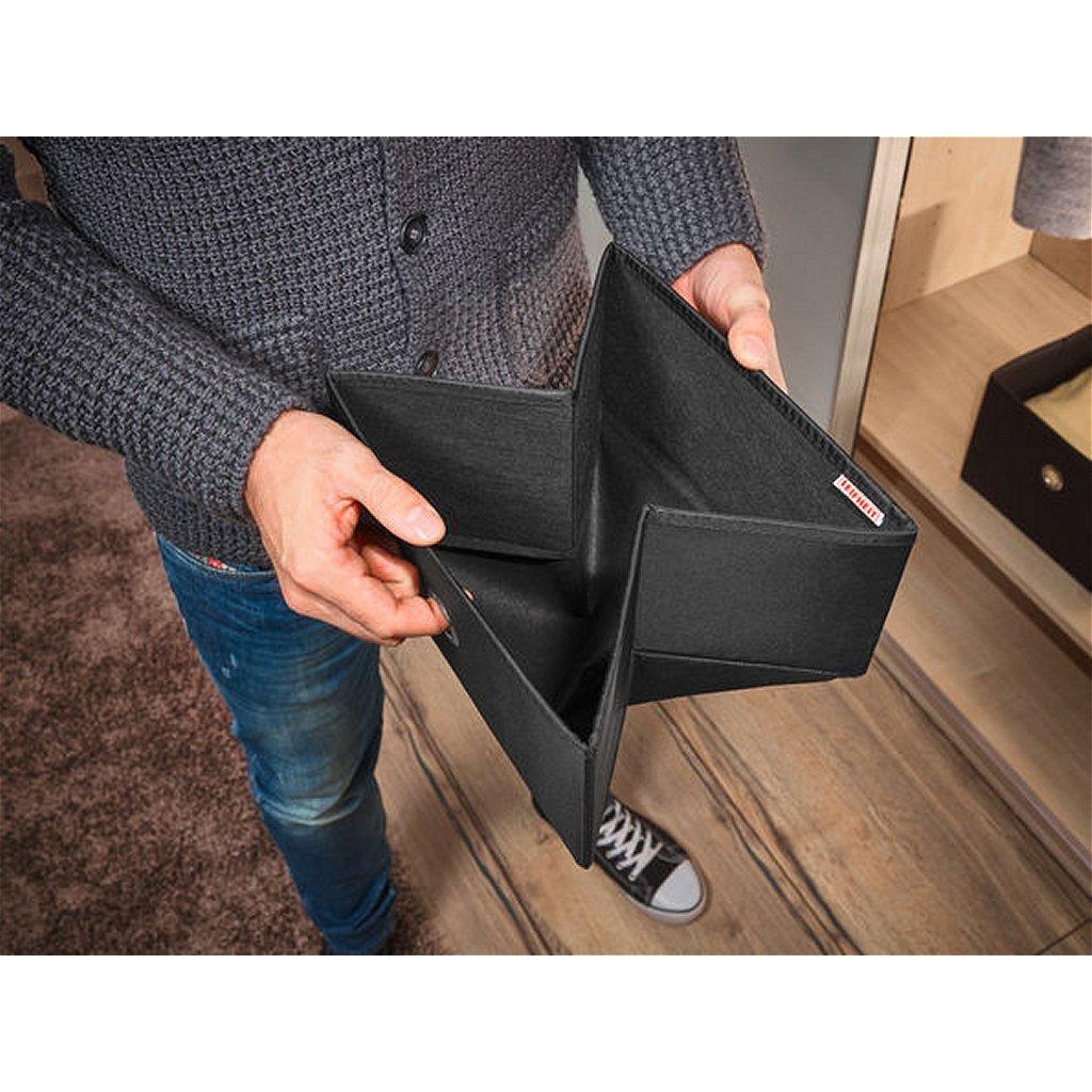 Leifheit 80009 Big Box 27.5x28x19 cm Zwart