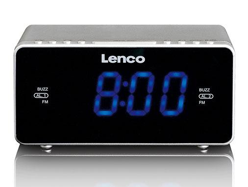 Lenco CR-520 Wekkerradio Zilver