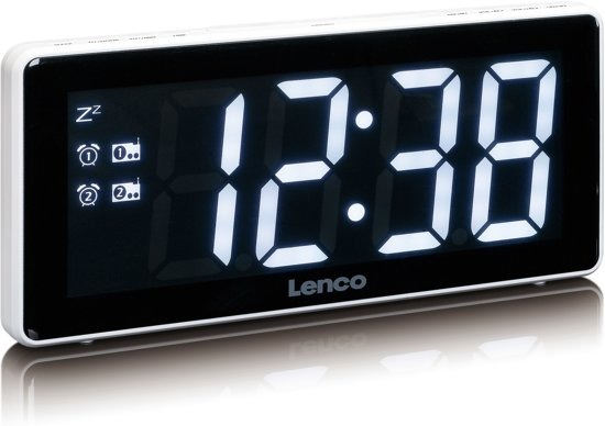Lenco CR-30 Wekkerradio XXL Wit
