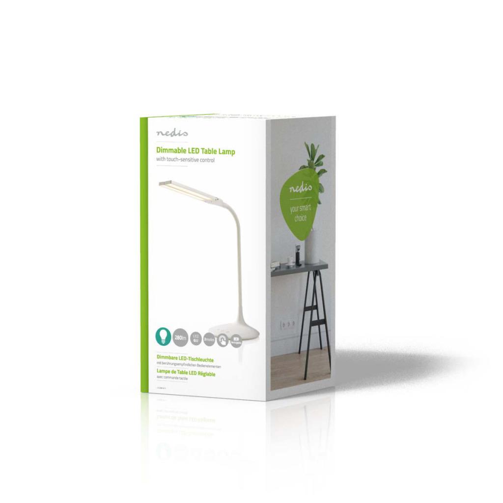 Nedis LTLG3M1WT4 Dimbare Led-tafellamp Aanraakbediening 3 Lichtmodi Oplaadbare Batterij 280 Lm
