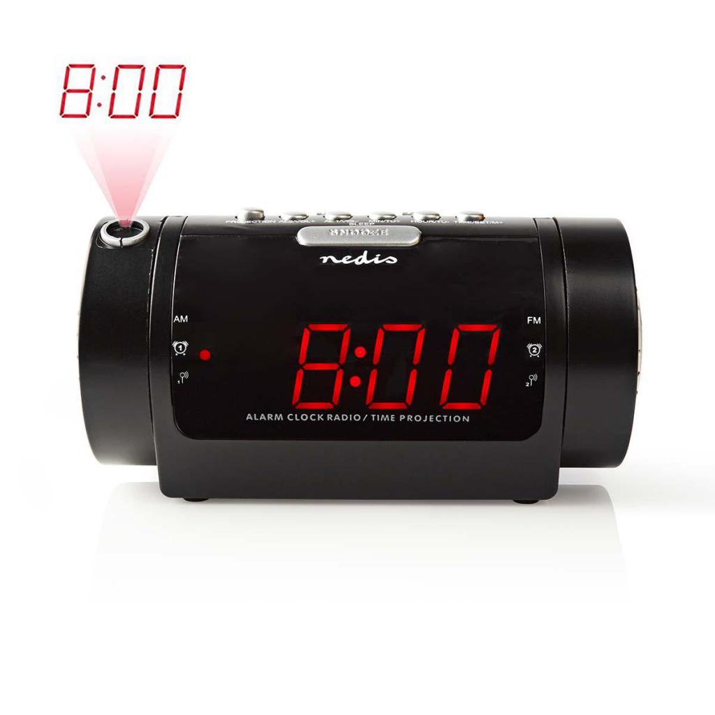 """Nedis CLAR005BK Digitale Wekkerradio Met Display Led Van 0,9"""" Fm Dubbel Alarm Sluimeren"""
