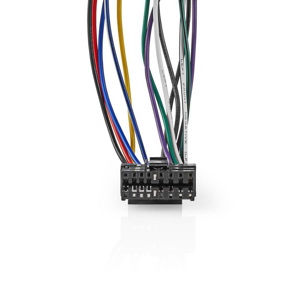 Nedis ISOCSO16PVA Sony 16-pins Iso-kabel Radioconnector - 2x Autoconnector 0,15 M Veelkleurig