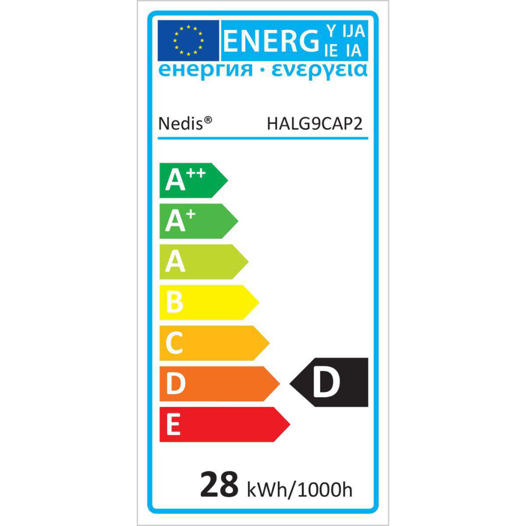 Nedis HALG9CAP2 Halogeenlamp G9 -capsule 28 W 370 Lm 2800 K
