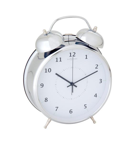 NeXtime NE-5113ZI Wekker Dia. 23 Cm, Metaal, Zilver, Wake Up