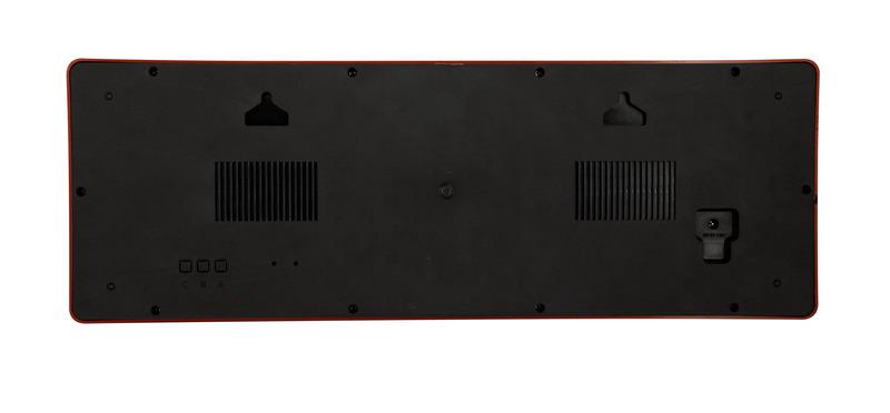 NeXtime NE-3059 Wandklok 51.5 X 18 X 4.5 Cm, Plastic, Big D
