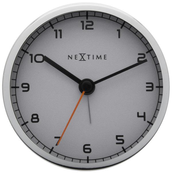 NeXtime NE-5194WI Wekker 9 X 9 X 7.5 Cm, Metaal, Wit, Company Alarm