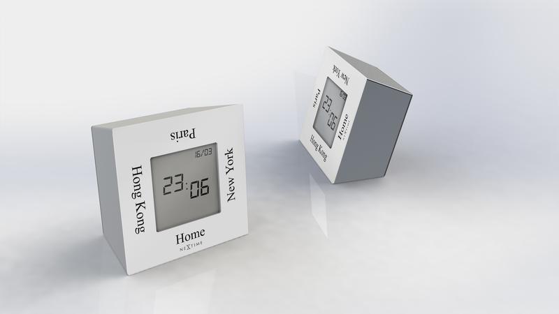 NeXtime NE-5190WI Alarmklok 7,4x4x7,4cm Metaal, Wit, Turn4Time