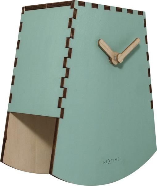 NeXtime NE-5207TQ Tafelklok Rocky 19.5x18x8.8 Cm Hout Turquoise