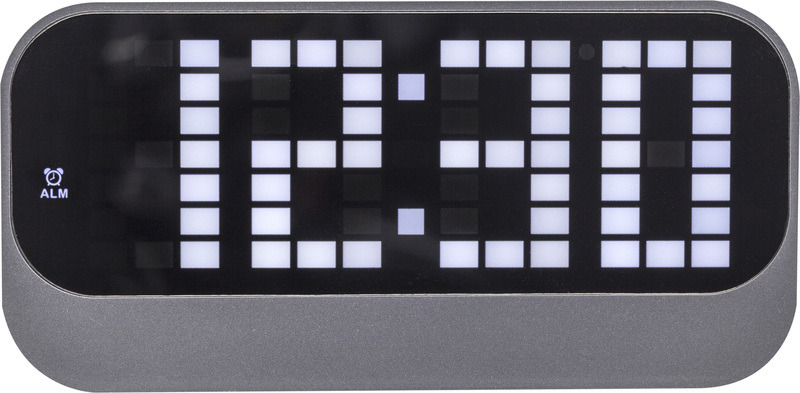 NeXtime NE-5211ZW Wekker Loud 17.5x8.5x5cm ABS Zwart