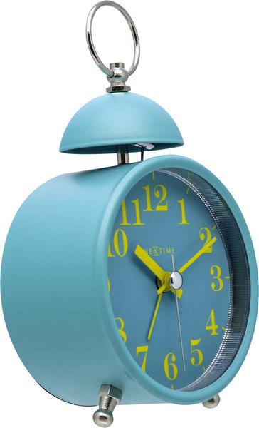 NeXtime NE-5213TQ Wekker Single Bell 16x9.2x5.4 Metaal Turquoise / Geel