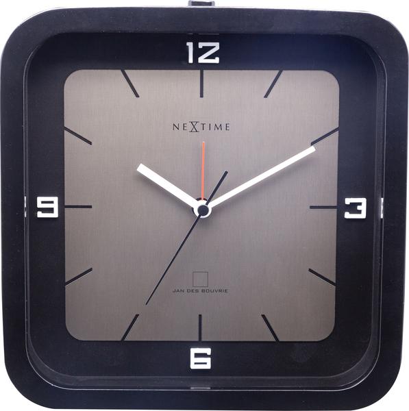 NeXtime NE-5221ZW Tafelklok Square Alarm 20 X 20 X 6 Cm Zwart