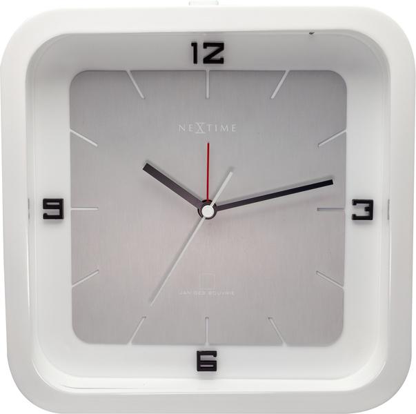 NeXtime NE-5221WI Tafelklok Square Alarm 20 X 20 X 6 Cm Wit