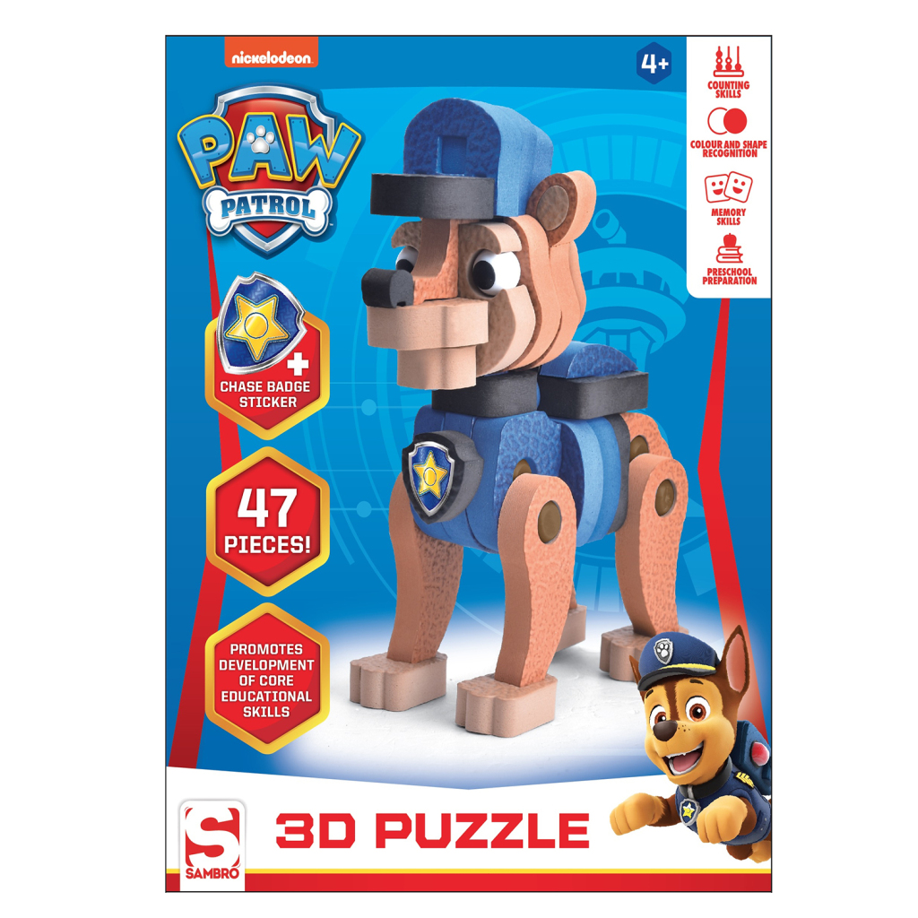 Paw Patrol 3D Puzzel Chase 47 Stukjes