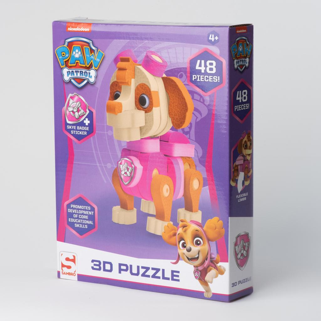 Paw Patrol 3D Puzzel Skye 48 Stukjes