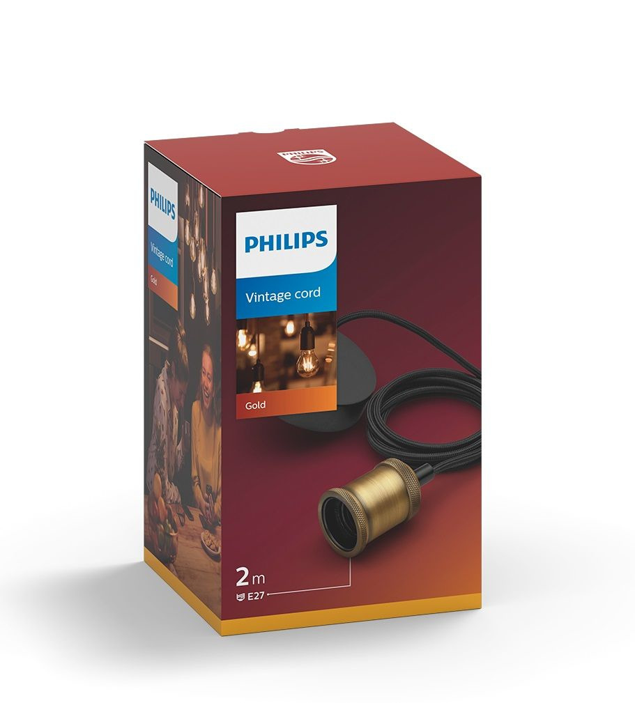 Philips Vintage Cord 1x60w Gold