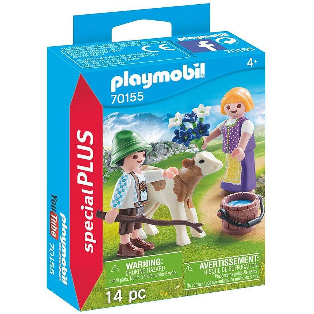 Playmobil 70155 Special Plus Jongen en Meisje met Kalf